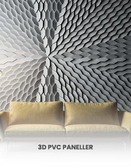 3D pvc paneller