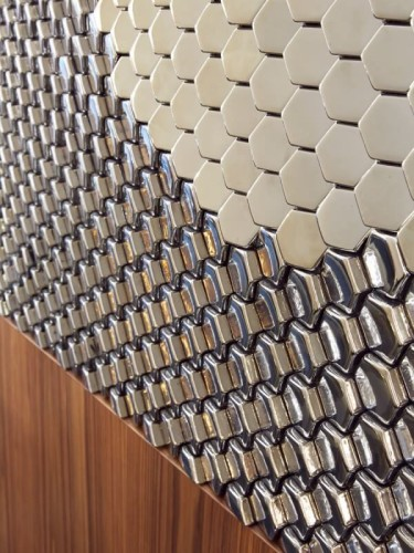 - PH-3 Altıgen Form PVC Panel - Gümüş