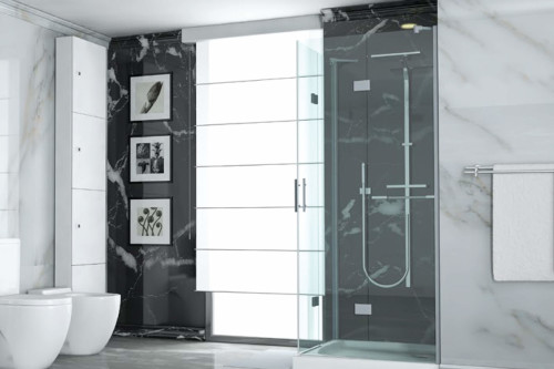 PMD-03 Black & White Mermer PVC Plaka - Thumbnail